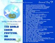 FESTIVAL SCHEDULE 9th May 2021, Sunday